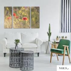 Piękna, subtelna dekoracja na ścianę w salonie. Obraz doda wnętrzu nieco delikatności.