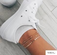 bransoletki na kostkę do sportowych butów