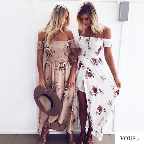 długie sukienki w kwiaty na lato