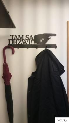 Tam są drzwi! – wieszak na ubrania – art-steel.pl