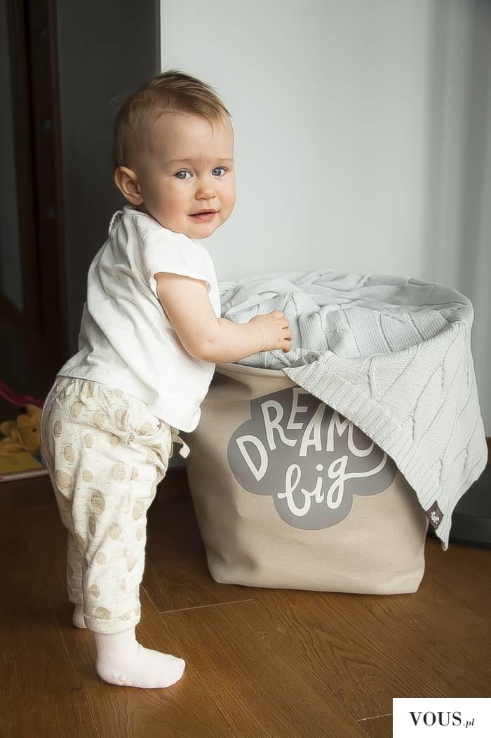 Piękny kocyk bawełniany dziany PULP warkocz siwy – zapraszamy do naszego sklepu pulp.com.p ...