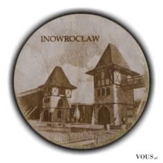 Drewniana, grawerowana laserowo pamiątka z Inowrocławia. Solanki, tężnie – to jedno z najb ...