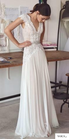 lejąca sie sukienka ślubna