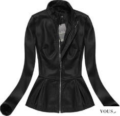 Czarna elegancka kurtka