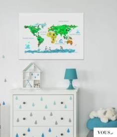 Mapa edukacyjna do pokoiku dziecięcego