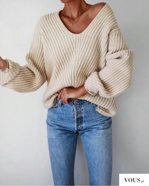 modny sweter / szczupła sylwetka
