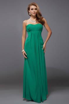Robe de soirée longue verte empire bustier en mousseline pour témoin mariage – Robedesoire ...