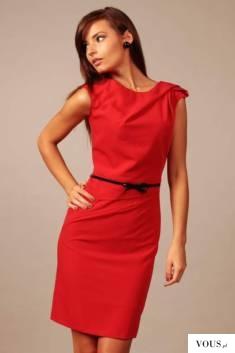Czerwona sukienka damska