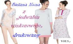 Polecamy eleganckie koszule nocne i piżamy z jedwabiu wiskozowego. Wszystkie produkty można zoba ...