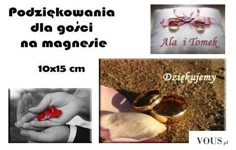Czy wiecie że na naszych magnesach możemy wydrukować podziękowania dla Waszych gości.Ślub, Komun ...
