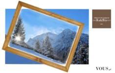 Nasze bestsellery. Rama drewniana lakierowana w rozmiarze A2 i pasujący do niej wydruk zdjęcia l ...