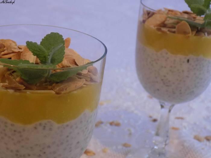 Kokosowy pudding z nasionami chia i mango | AleTorcik!