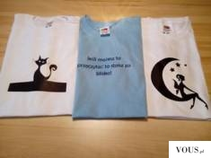 Gotowe koszulki na kilka minut przed wysłaniem do klientki.  Wszystkie nasze koszulki znajdzieci ...