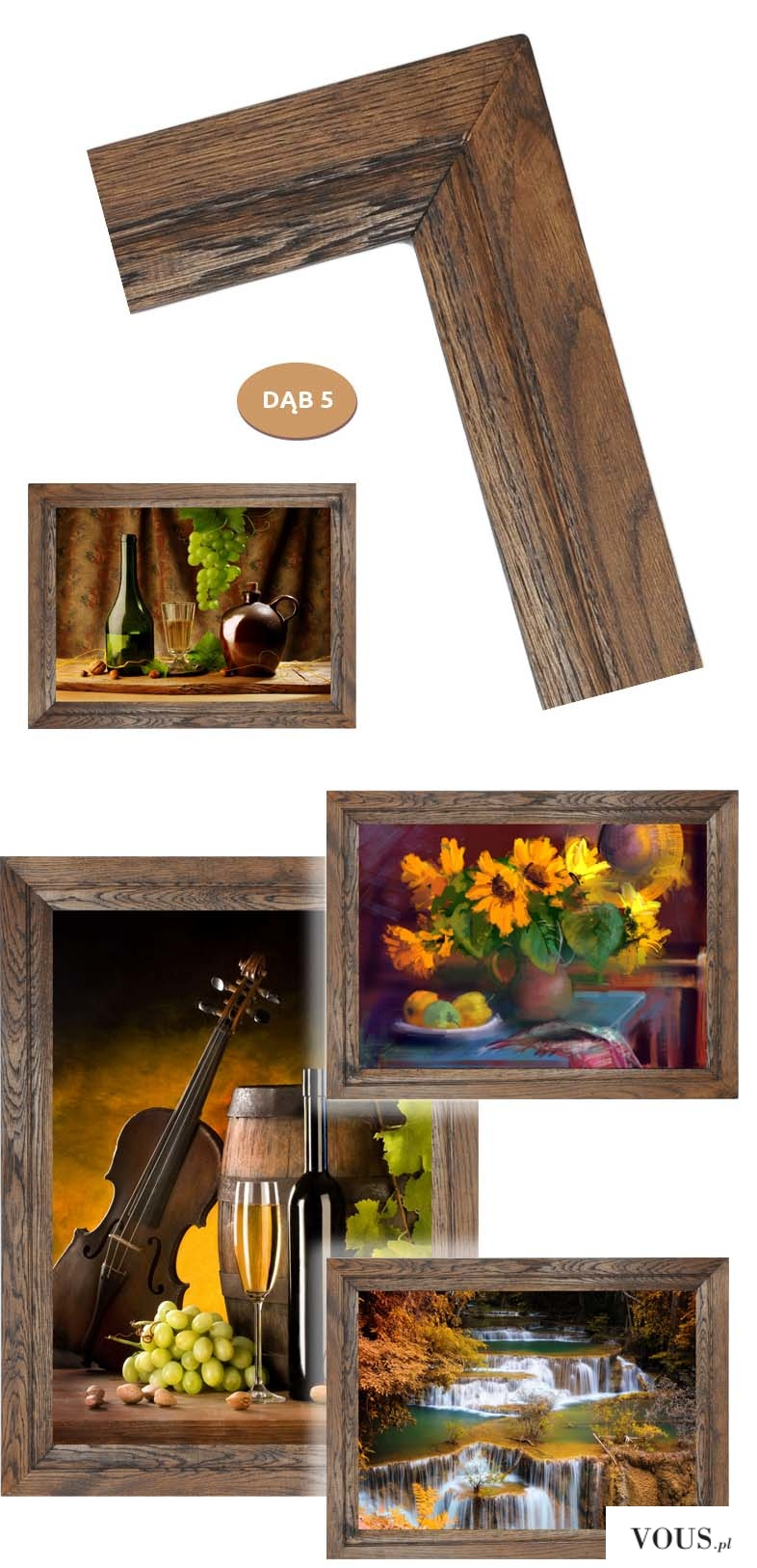 Kilka naszych obrazów w ramie dębowej. Podoba Wam się?   Te i wiele innych możecie mieć u siebie ...