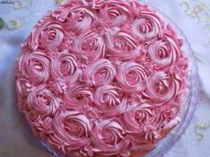 Różowy tort truskawkowy | AleTorcik!