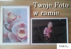Dwie różne ramki w jednym kolorze.  Nasza klientka zrobiła sobie prezent na Dzień Kobiet.  Podob ...