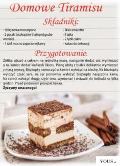 Co zrobic aby przepis na nasze ulubione ciasto był zawsze pod ręką. Oto ciekawy pomysł na jego u ...