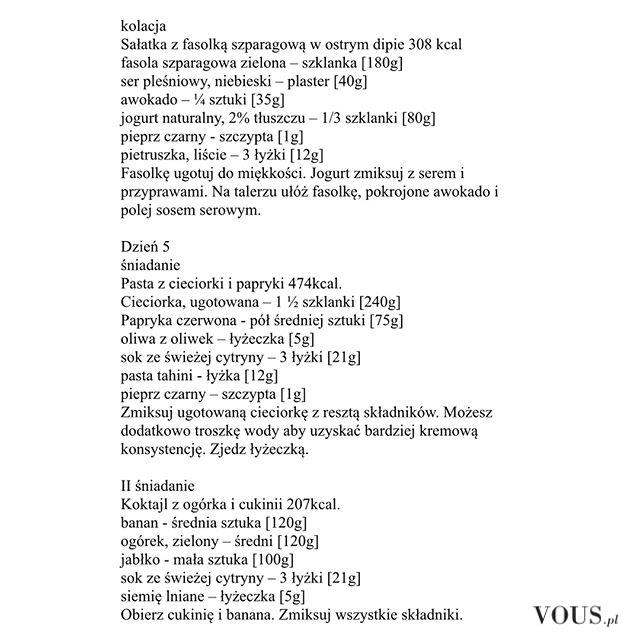 Dieta Ewa Chodakowska, przepisy, jadłospis, śniadanie, obiad i kolacja, na cały tydzień