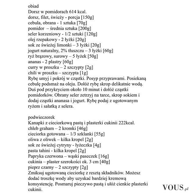 Dieta Ewa Chodakowska, przepisy, jadłospis, śniadanie, obiad i kolacja