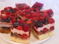 Ciasto owocowe z galaretką i kremem czekoladowym | AleTorcik!