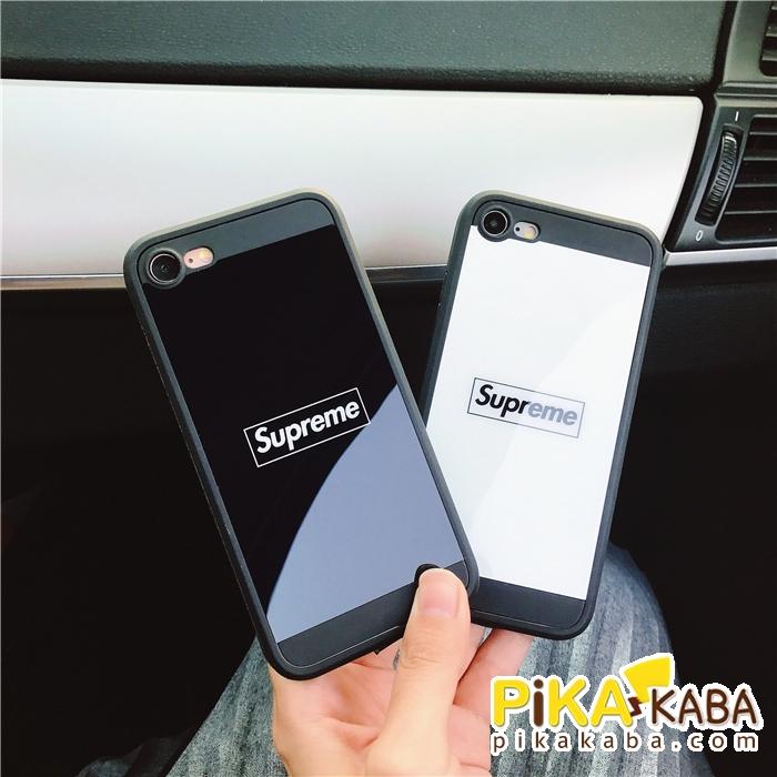 シュプリーム アイフォンテン/Xケース 鏡面 iPhone8/8plusケース supreme ストリート
