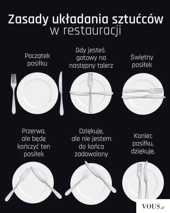Zasady układania sztućców w restauracji