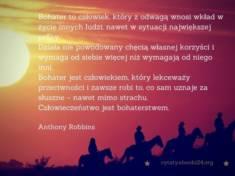 ✩ Anthony Robbins cytat o bohaterstwie ✩ | Cytaty motywacyjne
