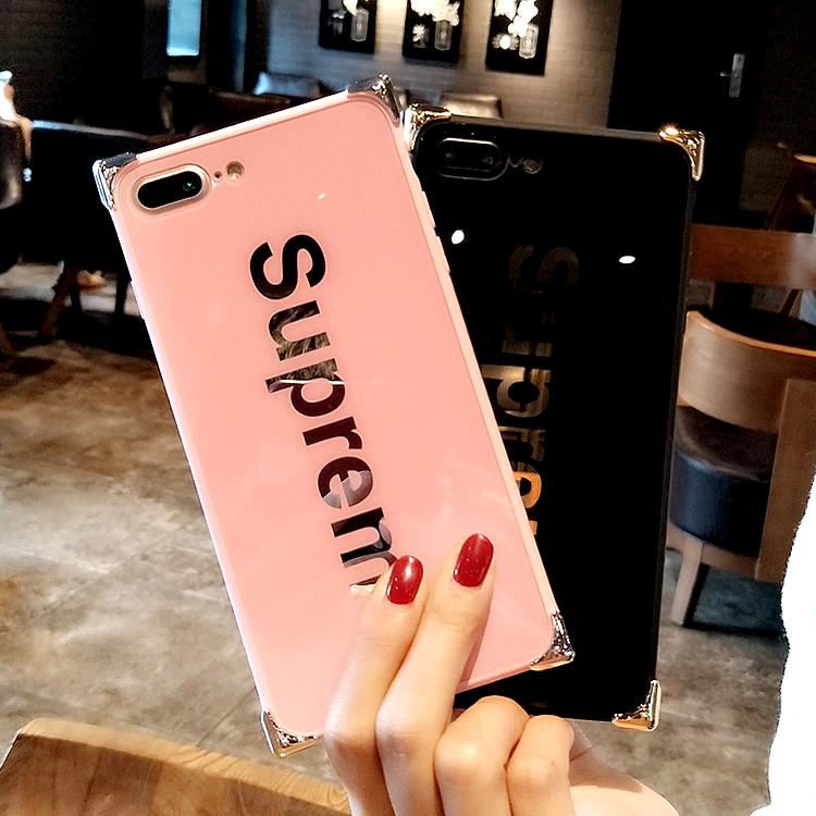 シュプリーム iphone8/7 plusケース カップル アイフォンテン/x携帯カバー 鏡面 supreme