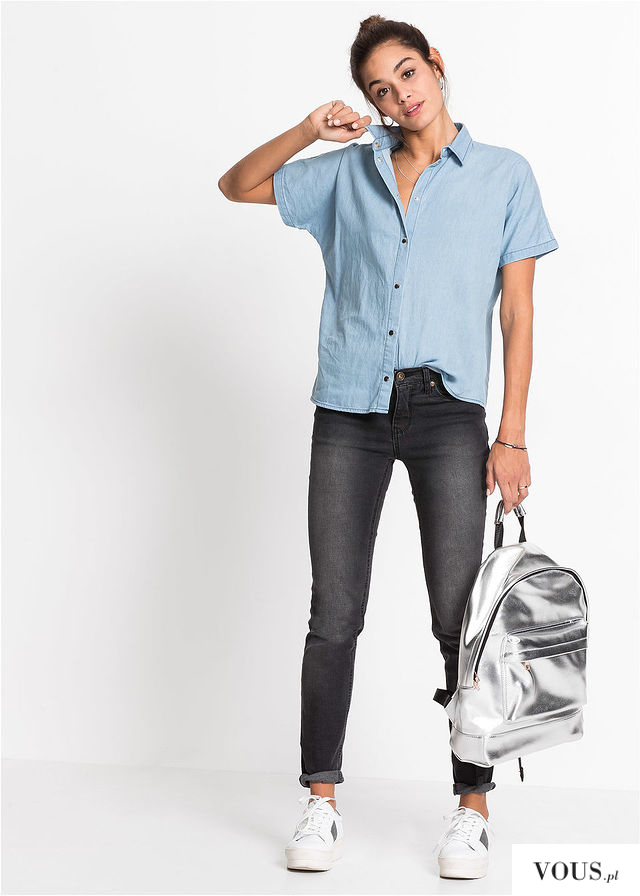 Jasna jeansowa koszula