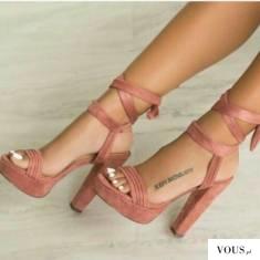 Wiązane wysokie buty