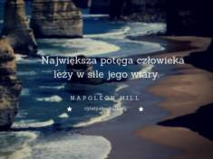 ✩ Napoleon Hill cytat o potędze człowieka ✩ | Cytaty motywacyjne