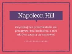 ✩ Napoleon Hill cytat o zwycięstwach i szanowaniu ✩ | Cytaty motywacyjne