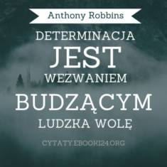 ✩ Anthony Robbins cytat o determinacji ✩   Cytaty motywacyjne