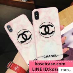 ブランド シャネル chanel iPhonexs max xr ケース 大理石柄 ピンク アイフォン エス マックス ケース  ...