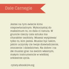✩ Dale Carnegie cytat o byciu sobą ✩ | Cytaty motywacyjne