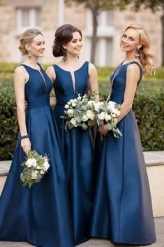 Impressive Round Neck Sleeveless Floor Length Bridesmaid Dress B374 – Ombreprom
