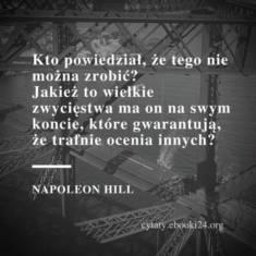 ✩ Napoleon Hill cytat o rzeczach niemożliwych ✩   Cytaty motywacyjne