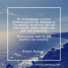 ✩ Robert Kiyosaki cytat o nauce ✩ | Cytaty motywacyjne