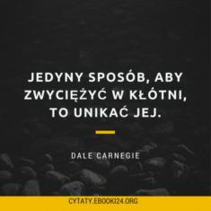 ✩ Dale Carnegie cytat o kłótni ✩ | Cytaty motywacyjne