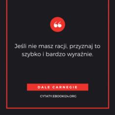 ✩ Dale Carnegie cytat o racji ✩ | Cytaty motywacyjne