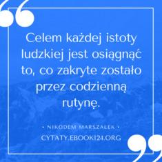 ✩ Nikodem Marszałek cytat o celach ✩ | Cytaty motywacyjne