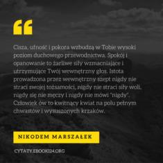 ✩ Nikodem Marszałek cytat o duchowym przewodnictwie ✩ | Cytaty motywacyjne