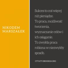 ✩ Nikodem Marszałek cytat o tym czym jest sukces ✩ | Cytaty motywacyjne