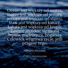 ✩ Nikodem Marszałek cytat o wielkości i wygrywaniu ✩ | Cytaty motywacyjne