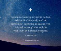 ✩ T. Harv Eker cytat o tajemnicy sukcesu ✩ | Cytaty motywacyjne