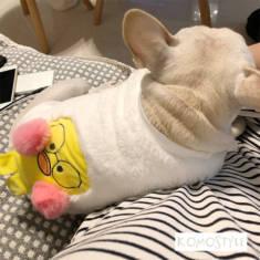 ポンポン付き 犬服スウェット ぬくぬく ドッグウェア 可愛い 犬洋服 韓国人気 パンパント
