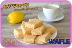 WAFLE CYTRYNOWE – zrobione z miłości do cytrynowych słodkości;) Łatwe do zrobienia i pyszn ...