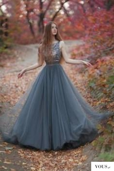 Impressive Tulle Round Neck V Back Sleeveless Sequins With Bowkont Prom Dress P804
