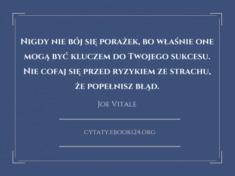 ✩ Joe Vitale cytat o porażkach ✩ | Cytaty motywacyjne