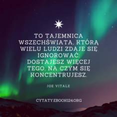 ✩ Joe Vitale cytat o tajemnicy wszechświata ✩ | Cytaty motywacyjne